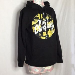 Neff Company Men's Black Hoodie with Flower Detail